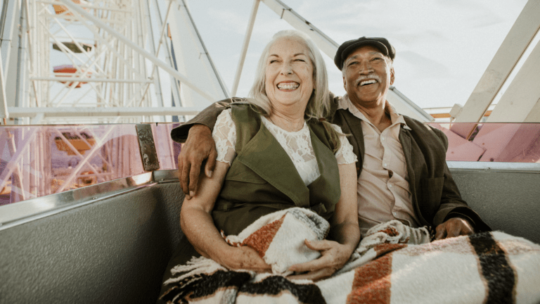 husband and wife enjoying retirement with an annuity