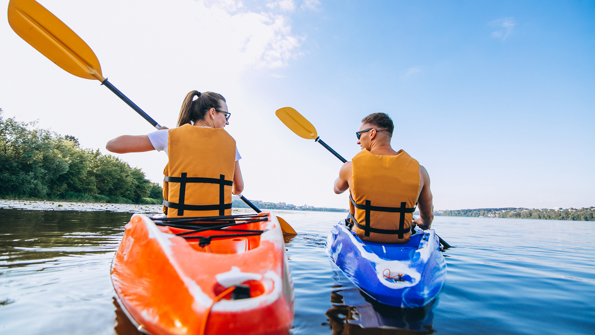 couple kayaking insured with term life insurance