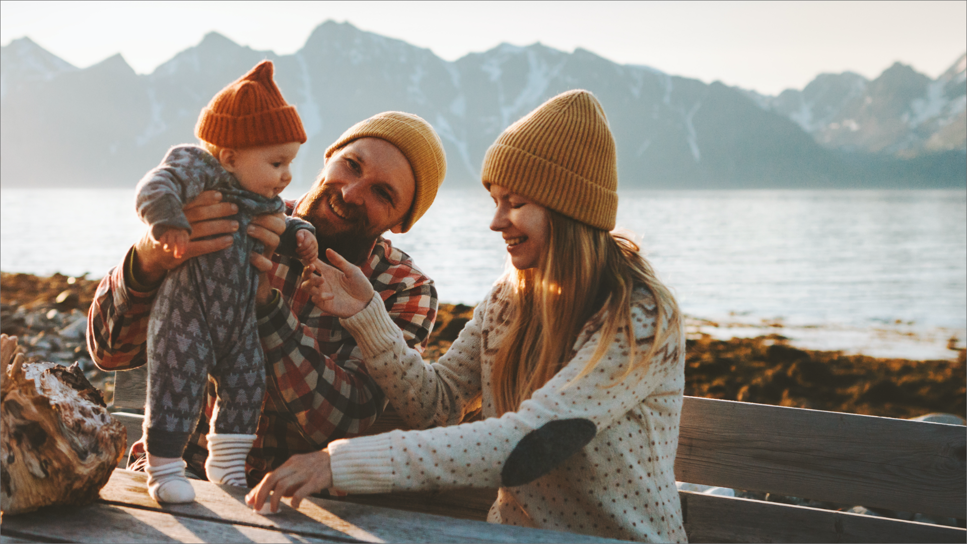 family of 3 camping, debt free budget tips